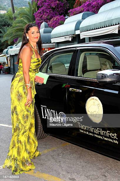 Barbara Tabita arrives at the Lancia Cafe during the 58th Taormina Film Fest on June 26 2012 in Taormina Italy