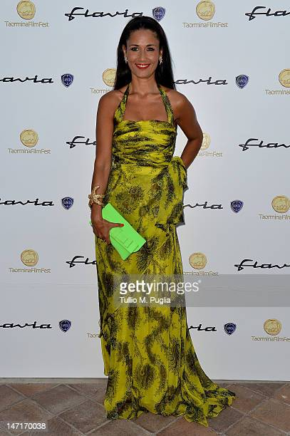 Barbara Tabita attends at the Lancia Cafe during the 58th Taormina Film Fest on June 26 2012 in Taormina Italy