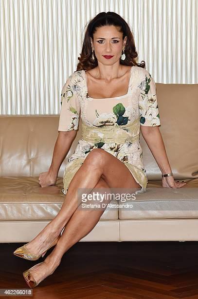 Barbara Tabita attends Italiano Medio Photocall on January 26 2015 in Milan Italy