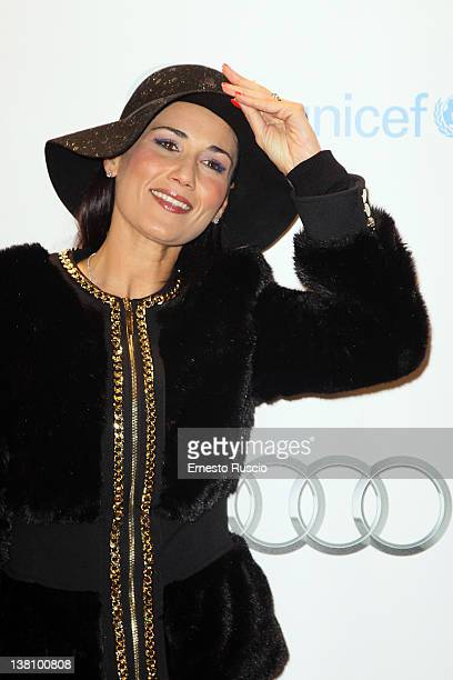 Barbara Tabita attends the Hugo Cabret premiere at Embassy Cinema on February 2 2012 in Rome Italy