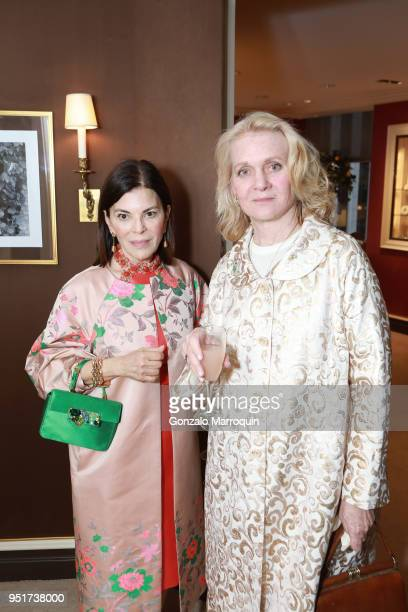 Barbara Tfank and Diane Smith attend Verdura Celebrates the Hearst Castle Preservation Foundation at Verdura Showroom on April 24 2018 in New York...