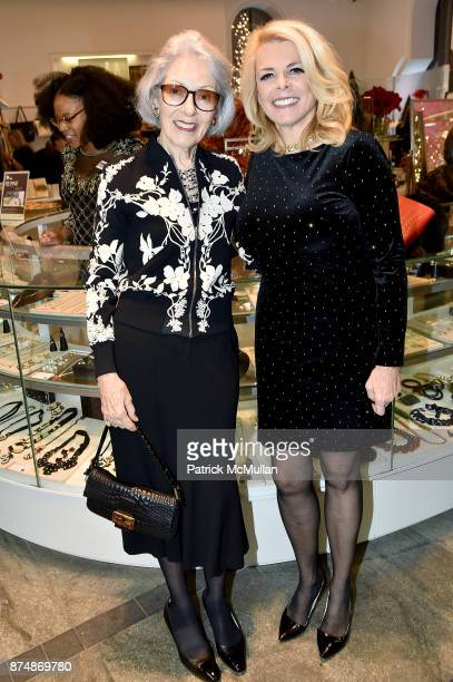 Barbara Tober and Betsy McCaughey attend Barbara Tober hosts a party for AVEDON Something Personal at Museum of Art and Design on November 15 2017 in...