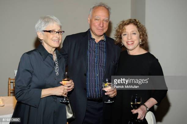 Barbara Toll Michael Steinberg and Ellen Chesler attend The Drawing Center 2010 Gala at The Drawing Center Tribeca Rooftop on April 21 2010 in New...