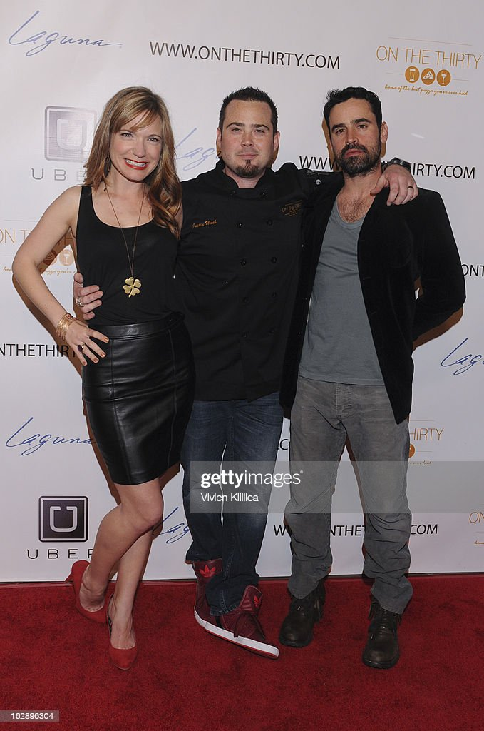 Barbara Urich, Justin Urich and Jesse Bradford attend 'On The Thirty' Grand Opening at On The Thirty on February 28, 2013 in Sherman Oaks, California.