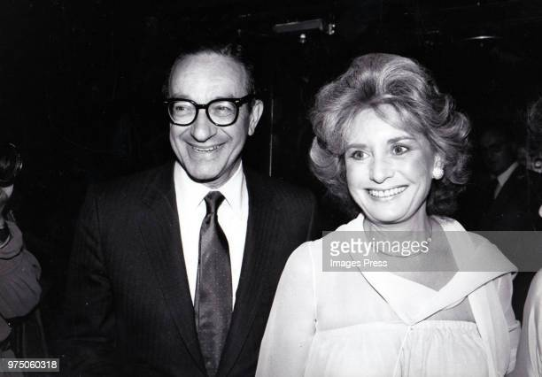 Barbara Walters and Alan Greenspan circa 1982 in New York