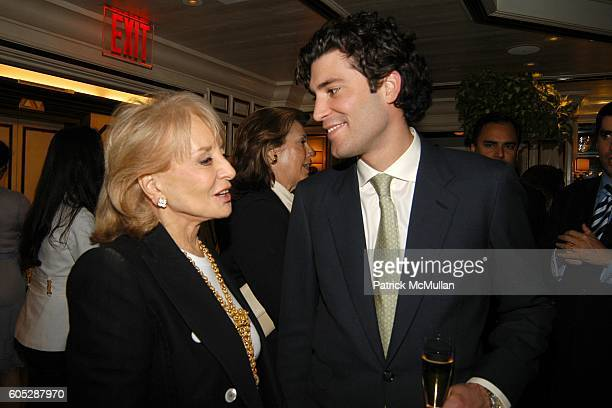 Barbara Walters and Alejandro Santo Domingo attend GILLES MENDEL Party for TERI HATCHER and her new book BURNT TOAST at BG Restuarant on May 11 2006...