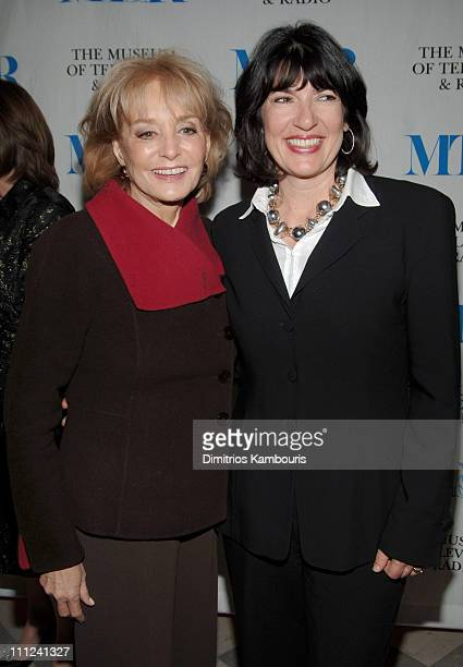 """Barbara Walters and Christiane Amanpour during The Museum of Television and Radio Kicks Off """"She Made It: Women Creating Television and Radio"""" at The..."""