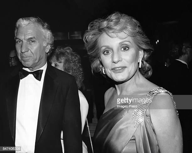 Barbara Walters and Merv Adelson circa 1985 in New York City.