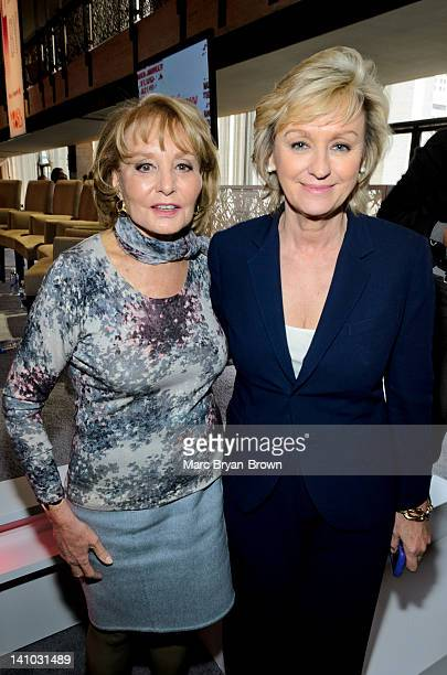 Barbara Walters and Tina Brown attend Women in the World Stories Solutions at the David H Koch Theater Lincoln Center on March 9 2012 in New York City