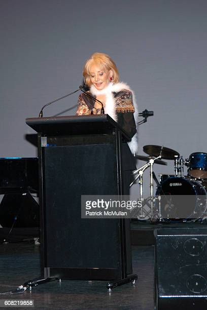 Barbara Walters attends CURTAIN UP Celebrating SARAH LAWRENCE COLLEGE Retiring President MICHELE MYERS at The Hudson Theatre on April 16 2007 in New...