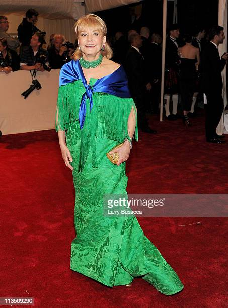 Barbara Walters attends the Alexander McQueen Savage Beauty Costume Institute Gala at The Metropolitan Museum of Art on May 2 2011 in New York City