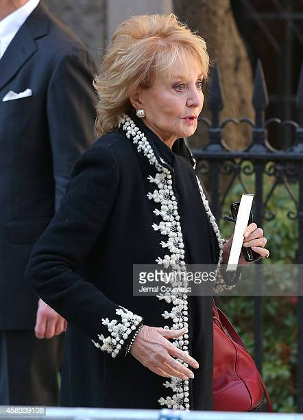 Barbara Walters attends the funeral of fashion designer Oscar De La Renta at St Ignatius Of Loyola on November 3 2014 in New York City
