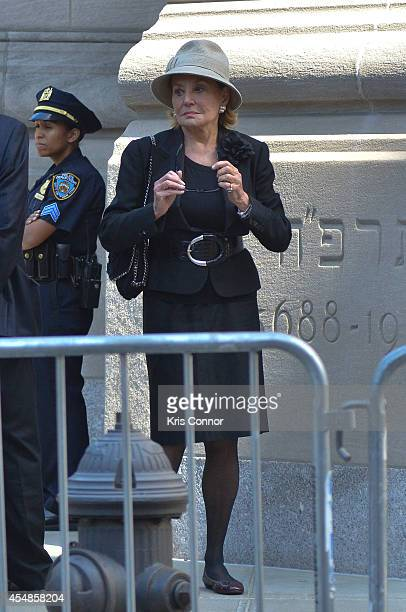 Barbara Walters attends the Joan Rivers memorial service at Temple EmanuEl on September 7 2014 in New York City