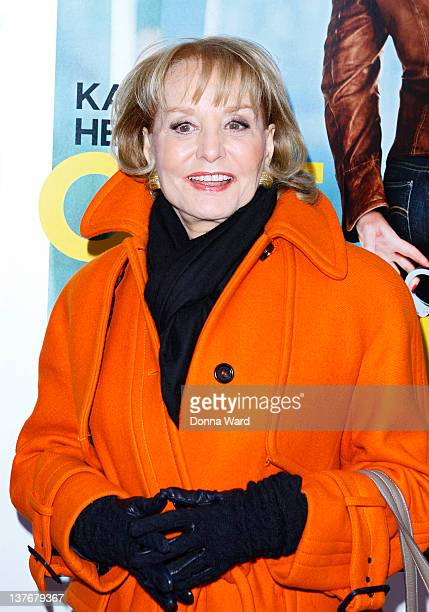 Barbara Walters attends the One for the Money premiere at the AMC Loews Lincoln Square on January 24 2012 in New York City