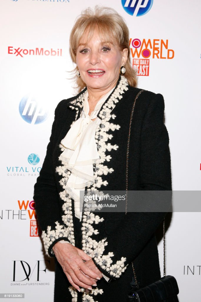 Barbara Walters attends WOMEN IN THE WORLD Summit at Hudson Theatre on March 12, 2010 in New York.