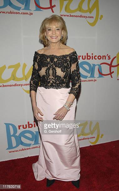 """Barbara Walters during Gala Dinner Introducing """"Ben and Izzy"""" with Special Guest Her Majesty Queen Rania Al-Abdullah of Jordan at Metropolitan Museum..."""