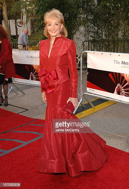 """Barbara Walters during """"Madama Butterfly"""" Opening Night Starting the Lincoln Center Metropolitan Opera 2006-2007 Season at Lincoln Center Plaza in..."""
