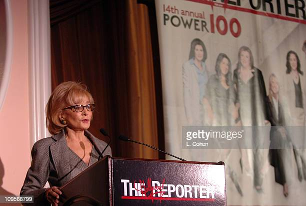 Barbara Walters during The Hollywood Reporter's Women in Entertainment Power 100 Breakfast Sponsored by Lifetime Show at Beverly Hills Hotel in...
