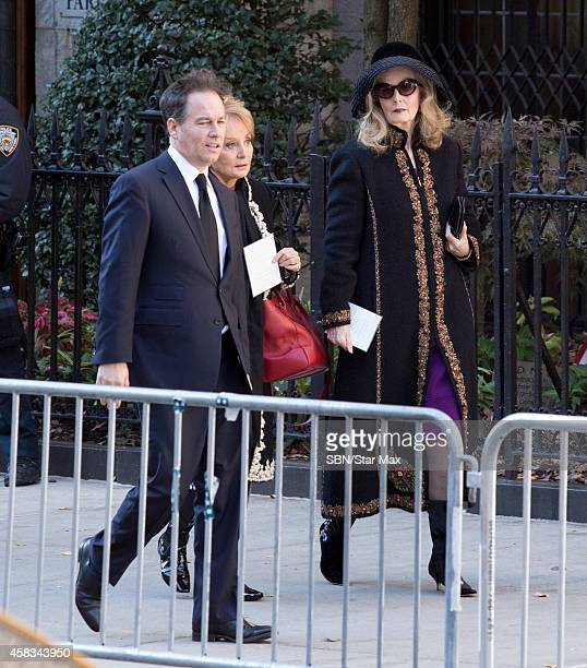 Barbara Walters is seen at the funeral of fashion designer Oscar De La Renta at St Ignatius Of Loyola on November 3 2014 in New York City