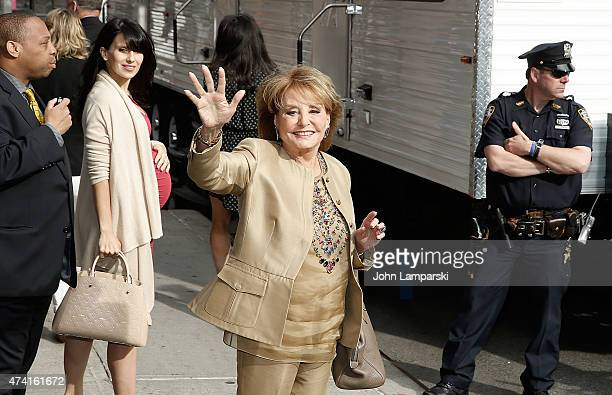"""Barbara Walters visits """"Late Show With David Letterman"""" - May 20, 2015 at Ed Sullivan Theater on May 20, 2015 in New York City."""