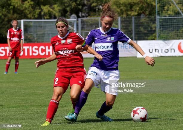 Barbara Weber of FC Suedburgenland looks dejected during the Planet Pure Women Bundesliga match between SG USC Landhaus Austria Wien and FC...