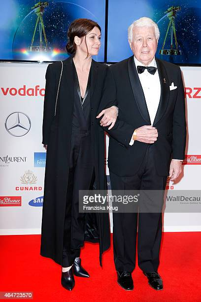 Barbara Weck and Peter Weck attend the Goldene Kamera 2015 on February 27 2015 in Hamburg Germany