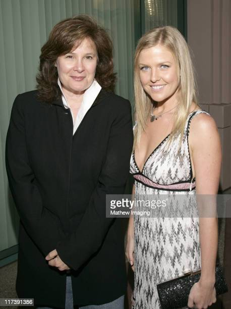 Barbara Wellner and Ashley Jensen during The Academy of Television Arts Sciences Presents An Evening with 'Ugly Betty' VIP Reception at Leonard H...