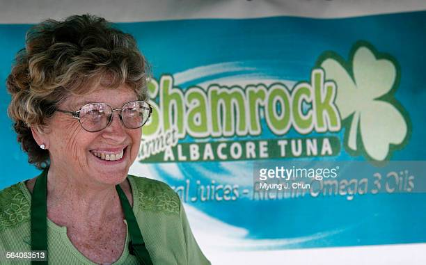 Barbara West and her husband Tony sell their brand of tuna – Shamrock Albacore Tuna The cans are sold at various farmers markets Photo shot on...