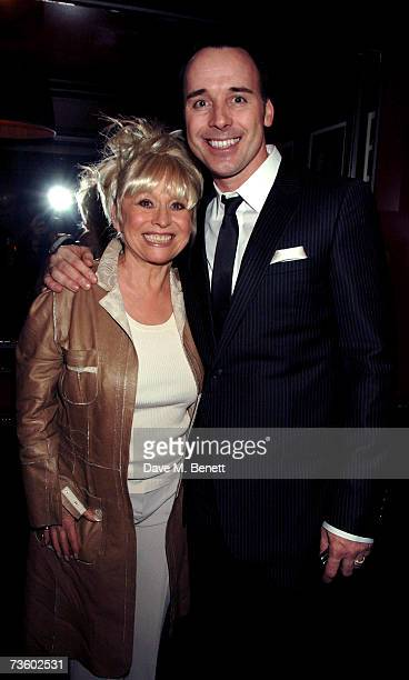 Barbara Windsor and David Furnish attend private party at Ronnie Scott's hosted by Gary Farrow on March 15 2007 in London England