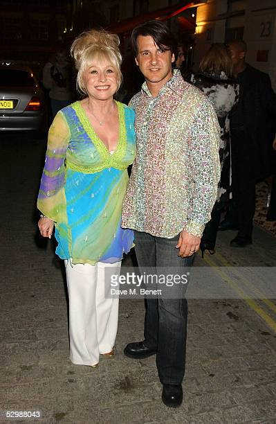 Barbara Windsor and huband Scott Mitchell attend the after party for Tracey Emin's new controversial exhibition at White Cube titled 'When I Think...