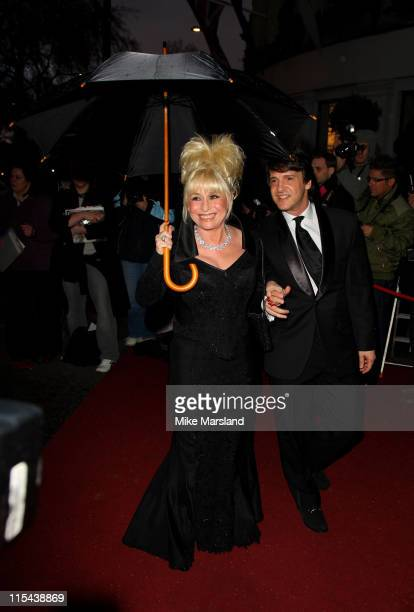Barbara Windsor and husband Scott Mitchell arrive for the Laurence Olivier Awards 2008 at Grosvenor House on March 9 2008 in London England