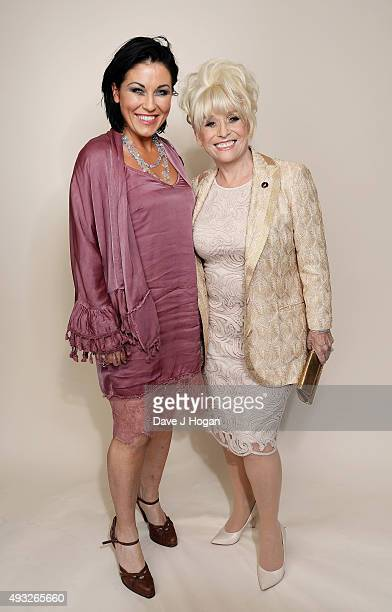 Barbara Windsor and Jessie Wallace attend the Amy Winehouse Foundation Gala at The Savoy Hotel on October 15 2015 in London England
