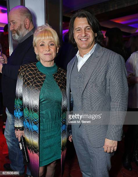 Barbara Windsor and Scott Mitchell attend the press night after party for 'Half A Sixpence' at The Prince of Wales Theatre on November 17 2016 in...
