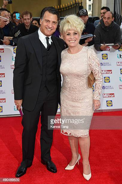 Barbara WIndsor and Scott Mitchell attend the Pride of Britain awards at The Grosvenor House Hotel on September 28 2015 in London England