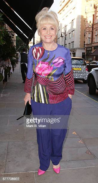 Barbara Windsor at Scotts restaurant on July 19 2016 in London England
