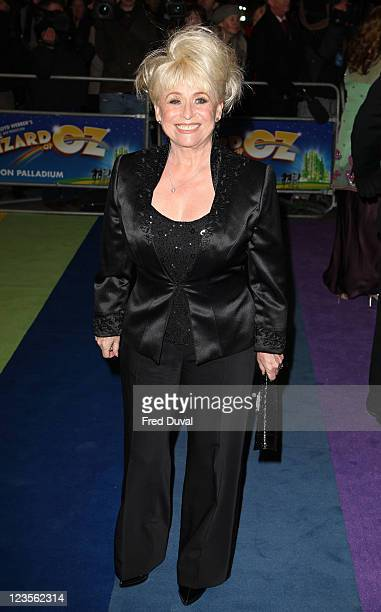 Barbara Windsor attends the press night of 'The Wizard Of Oz' at London Palladium on March 1 2011 in London England