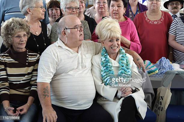 Barbara Windsor MBE meets local residents of Fieldway community centre as they prepare for their 'Big Lunch' on March 24 2011 in Croydon England The...