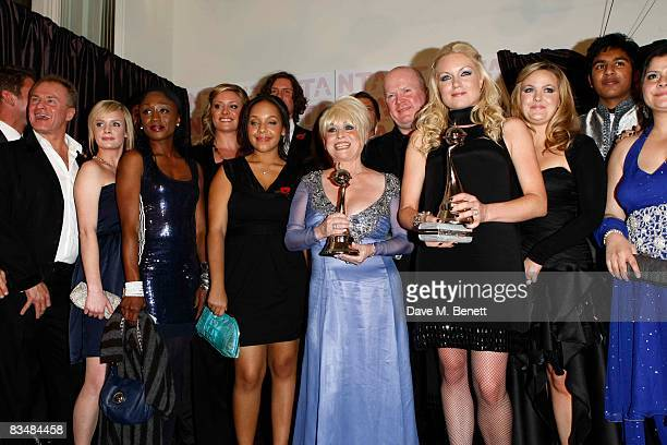 Barbara Windsor Steve McFadden Rita Simons Jo Joyner and Eastenders cast members with their award for 'Most Popular Serial Drama' during the National...