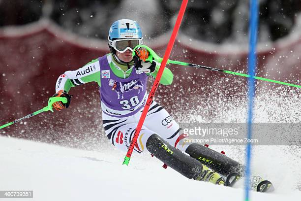 Barbara Wirth of Germany competes during the Audi FIS Alpine Ski World Cup Women's Slalom on January 05 2014 in Bormio Italy