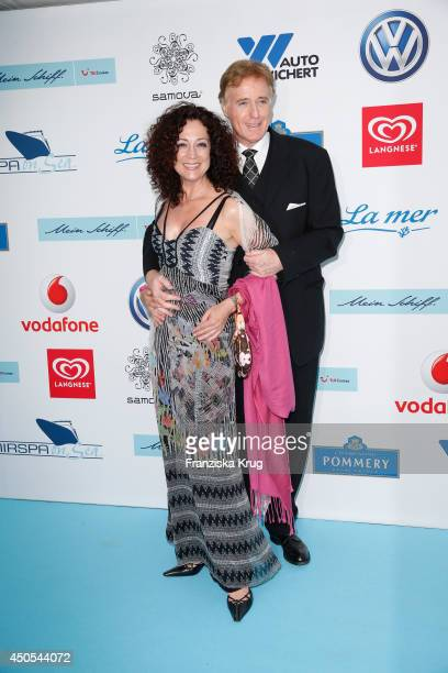 Barbara Wussow and Albert Fortell attend the christening of the ship 'Mein Schiff 3' on June 12 2014 in Hamburg Germany