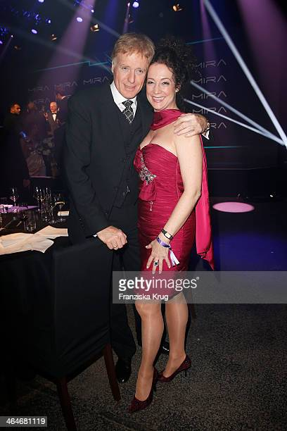 Barbara Wussow and Albert Fortell attend the Mira Award 2014 on January 23 2014 in Berlin Germany