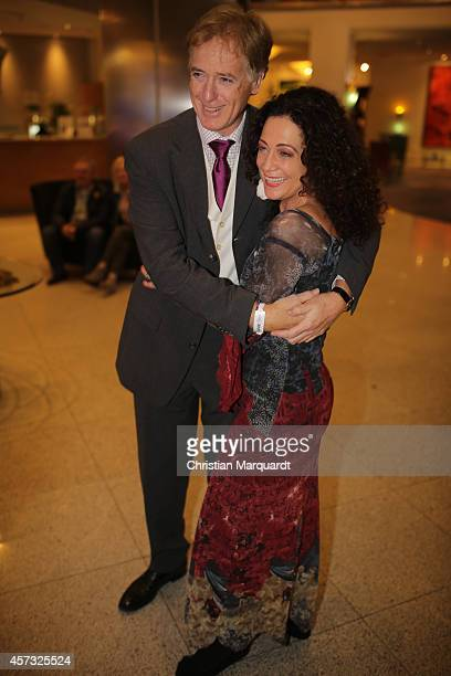 Barbara Wussow and Albert Fortell attend the premiere for 'Berliner Jedermann' at Berliner Dom on October 16 2014 in Berlin Germany