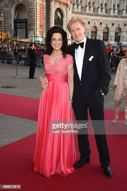 Barbara Wussow and Albert Fortell attend the Romy Award 2014 at Hofburg Vienna on April 26 2014 in Vienna Austria