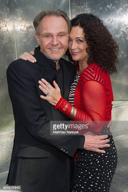 Barbara Wussow and Georg Preusse attend the 'Jedermann' press conference and photocall at Grand Hotel Esplanade on September 8, 2014 in Berlin,...