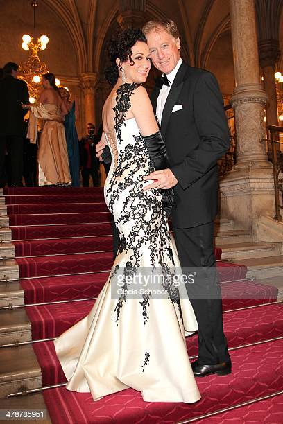 Barbara Wussow and husband Albert Fortell attend the 5th Filmball Vienna at City Hall on March 14 2014 in Vienna Austria