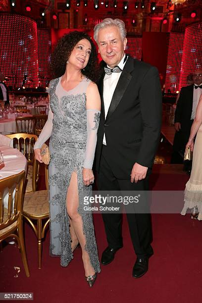 Barbara Wussow and Klaus Wowereit during the 27th ROMY Award 2015 at Hofburg Vienna on April 16 2016 in Vienna Austria