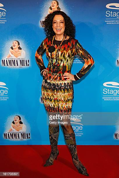 Barbara Wussow attends the red carpet arrivals for the Stuttgart Premiere of the musical 'Mamma Mia' at the Stage Palladium Theater on February 14,...