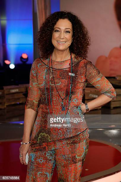 Barbara Wussow is seen in the studio of the RTL Telethon TV show on November 25 2016 in Cologne Germany The telethon is held every year and is on air...