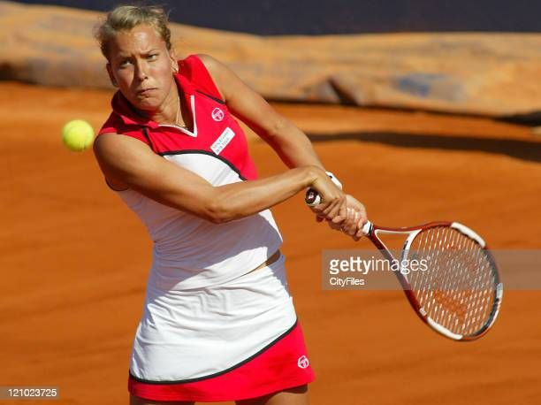 Barbara Zahlavova Strycova during the 2007 Estoril Open at Estadio Nacional lisbon Portugal on April 29 2007