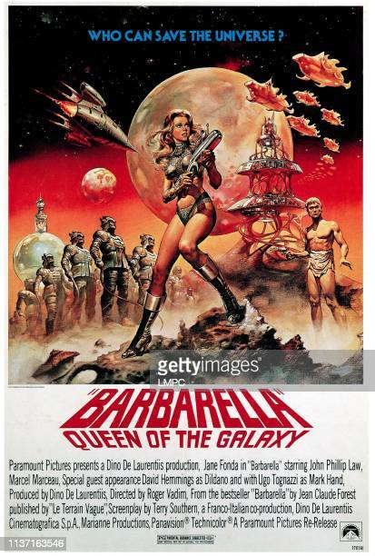 Queen Of The Galaxy poster Jane Fonda in 1977